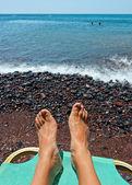 Roter Strand - Santorin - Griechenland — Stockfoto