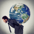 The weight of the planet - Stock Photo