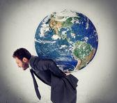 El peso del planeta — Foto de Stock