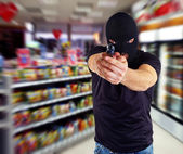 Robber with masked — Stock Photo