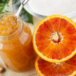 Stock Photo: Orange homemade jam