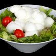 Braid of Italian mozzarella — Stock Photo