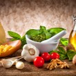Ingredients for Pesto - Stock Photo