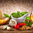 Ingredients for Pesto — Stock Photo