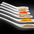 Stock Photo: Twelve spices