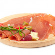 Stock Photo: Raw ham