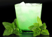 Drink with mint and ice — Stock Photo