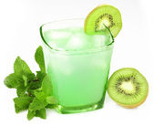 Drink with mint and kiwi — Stock Photo