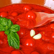 Stock Photo: Bowl with tomato sauce