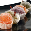 Color fruit jelly candies - Stock Photo