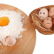 Stock Photo: Eggs afraid