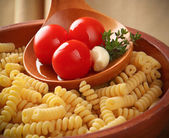 Italian pasta Fusilli — Stock Photo