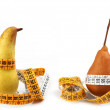 Pears measured the meter — Stock Photo
