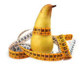 Pear measured the meter — Stock Photo