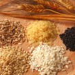 Five types of rice - Foto Stock