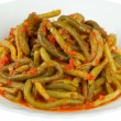 Green bean with tomato sauce — Stock Photo #24376603