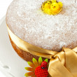 Stock Photo: Freshly baked chiffon cake