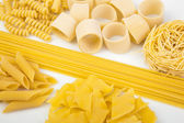 Variety of Italian pasta — Stock Photo