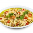 Pasta salad with tuna and cherry tomatoes — Stock Photo