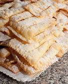 Chiacchiere or frappe italian cake — Stock Photo