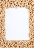 Wood pellets frame — Stock Photo