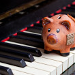 Music and saving — Stock Photo