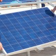 Installation of solar panel - Foto Stock