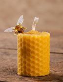 свечи из пчелиного воска — Стоковое фото