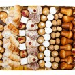 Tray of mixed patisserie — Stock Photo