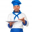Handsome chef isolated — Stock Photo