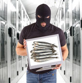 Phishing metaphor — Stock Photo