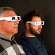 Two Men Wearing 3d Glasses — Stock Photo #27702409