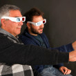 Two Men Wearing 3d Glasses — Stock Photo #27702785