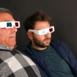 Two Men Wearing 3d Glasses — Stock Photo
