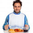 Guy with bib — Stock Photo