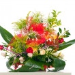 Basket of various flowers — Stock Photo