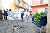 """Marcia per la vita"" in Mondragone, Italy. Protest of the people — Stock Photo"