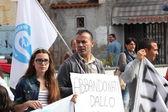 """""""Marcia per la vita"""" in Mondragone, Italy. Protest of the people — Stock Photo"""
