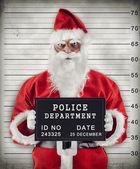 Santa Claus Mugshot — Stock Photo