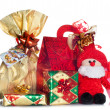 Stock Photo: Gift boxes decorated with ribbon