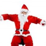 Santa Claus mimics a plane — Stock Photo #34225117