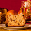 Panettone, traditional Italian Christmas cake — Stock Photo #34255095