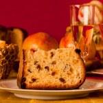 Panettone, traditional Italian Christmas cake — Stock Photo #34255095