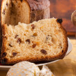 Panettone, traditional Italian Christmas cake — Stock Photo #34255219