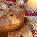 Panettone, traditional Italian Christmas cake — Stock Photo #34255383