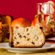 Panettone, traditional Italian Christmas cake — Stock Photo #34255571