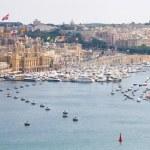City landscape on the seaside in malta — Stock Photo