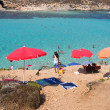 The Blue Lagoon, Comino island, Malta — Foto Stock #34846591