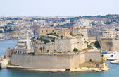 Fort St Elmo as seen from Upper Barrakka Gardens — Stock Photo
