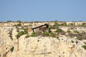 View of Coastline with generic rock, Gozo, Malta — Stockfoto